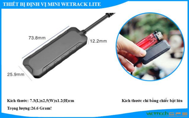 Thiết bị định vị xe máy mini siêu nhỏ Wetrack Lite